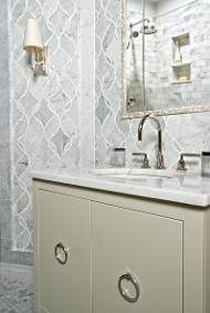 Bathroom With Unique Tile